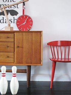 Gordon Russell mid-size sideboard and FDB J104 side chair....Britain & Denmark in perfect harmony!