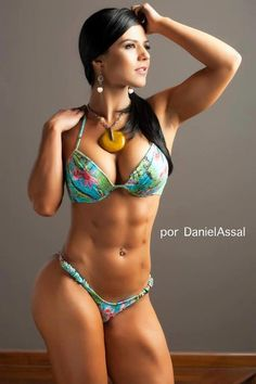 Eva Andressa. I love her! During competition she s as lean as it gets, but when she is a little softer, rocks big thighs and big booty. She is fit, and curvy. Love it