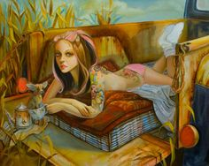 """One of my favs from Leslie Ditto Art """"Tea Party"""" xo"""