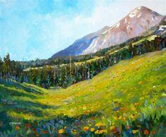 "Daily Paintworks - ""Ruby Range July"" - Original Fine Art for Sale - © Zack Thurmond"