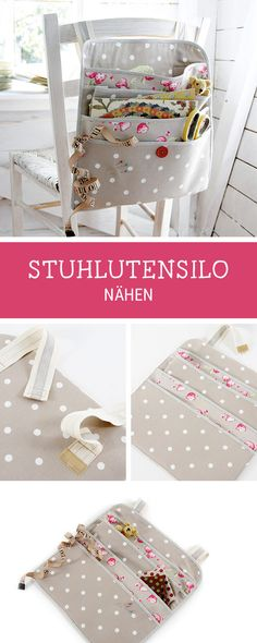 Ideas for more order: sewing utensils that you can hang on the chair, stool silo / diy storage idea: sewing pattern for an utensilo via DaWandacom The post Ideas for more order: Utensilo sew that one … appeared first on Woman Casual - Drawing Ideas Baby Knitting Patterns, Sewing Stitches, Bag Patterns To Sew, Sewing Patterns Free, Free Sewing, Sewing Diy, Sewing Aprons, Pattern Sewing, Crochet Patterns