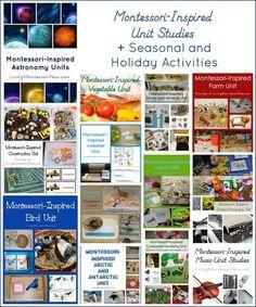 Montessori-Inspired Unit Studies + Seasonal and Holiday Activities