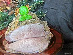 Gosia gotuje: Schab parzonay z dodatkiem majonezu do chleba