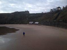 Tynemouth king Edwards bay  beach 7.59 am 25 th December 2014  www.tynemouthwebcam.com  #xmas #christmasday #santa