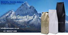 #SideGussetBags For #DriedFruit & #Nuts, #Food, #Coffee, #Tea, #PetFood, #bean. We can offer custom design service.