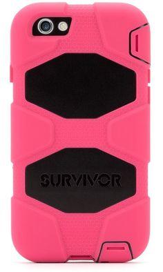 Griffin iPhone 6/6S Survivor Case - Pink / Black