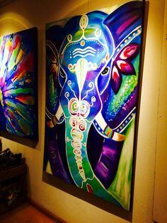 Bohemian elephant art painting www.artisoof.nl