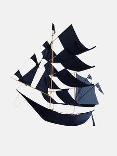 HapticLab Flying Dutchman Large Ship Kite | moonpicnic.com