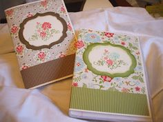 I left the recipe for the cd case notebook on my blog.