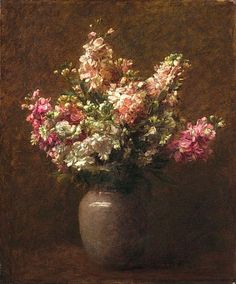 Victoria Dubourg Fantin-Latour  Still Life with Pink and White Stock  Late 19th century