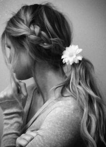 Get this messy braid/pony look!