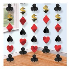 Card Suit Bunting/Door Curtain/Backdrop... I would just make my own... without the $$$... :)