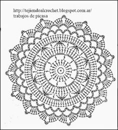 New crochet granny square circle beautiful Ideas Motif Mandala Crochet, Crochet Doily Patterns, Crochet Diagram, Crochet Chart, Crochet Squares, Thread Crochet, Crochet Granny, Crochet Doilies, Crochet Round