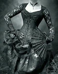 Beautiful Victorian gothic dress.