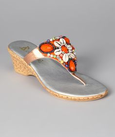 This Tangerine Kona Wedge Sandal by Bellini is perfect! #zulilyfinds