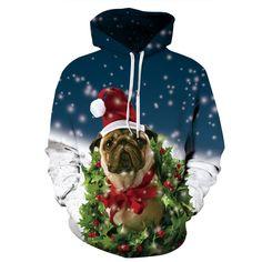 2017 Fashion Autumn Printed 3D Christmas Dog Galaxy Hoodies Sweatshirts Men/Women Hooded Homme Muscle Funny Hoodies for Men #fashionhoodieswomens