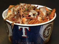 Now Texas Rangers fans can get the best of both worlds: poutine fries and nachos combined into one ballpark snack.