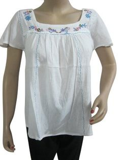 Bohemian White Blouse, Summer Fashion Beach Wear Tunic Top Short Kurta Xs Size Mogul Interior,http://www.amazon.com/dp/B00CFG05EI/ref=cm_sw_r_pi_dp_vryCrb1EAAAB41B8
