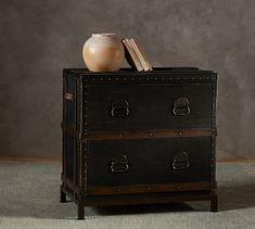 Ludlow Trunk File Cabinet #potterybarn