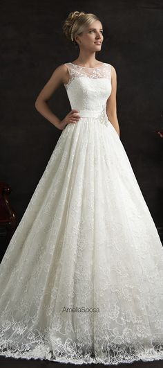 2015 Fashionable White Lace Bridal Dresses Court Train Wedding Dresses With Belt Covered Buttons Wedding Gowns Vestidos De Noiva 2016 Wedding Dresses, Bridal Dresses, Wedding Gowns, Bridesmaid Dresses, Lace Wedding, Prom Dresses, Dresses 2016, Modest Wedding, Chic Wedding