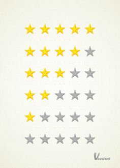 Create a Set of Detailed, Vector Rating Stars