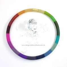 Tejido a mano doble collar del tubo de arco iris