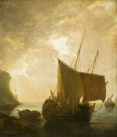 BBC - Your Paintings - Harbour Scene with Fishing Boats Pynacker