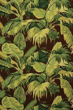 Pierre Frey - Banana Leaf Pierre Frey, Marcel, Graphic Prints, Palm Trees, Print Patterns, Plant Leaves, Beautiful, Interior, Painting