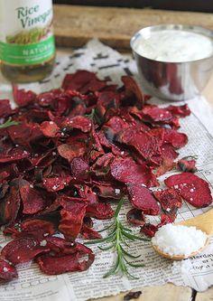 Rosemary sea salt and vinegar beet chips by Runningtothekitchen, via Flickr