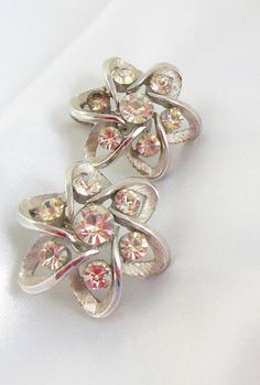 Vintage Trifari  Earrings with Rhinestones and by VJSEJewelsofhope, #vjse2 #boebot #etsybot2 #vintage #jewelry $7.00