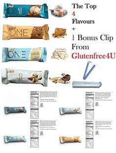 Oh Yeah! One Protein Bars | Top 4 varieties, pack of 8 + 1 bonus clip from Glutenfree4U