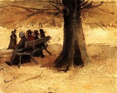 Vincent van Gogh - Four People on a Bench, 1882