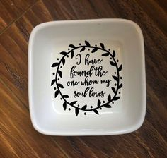 One Ring Dish Trinket Tray Personalized Jewelry by HansenHousehold