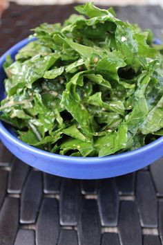 Kale Salad with Garlic Vinaigrette - only 10 minutes to make this very tasty salad and dressing.
