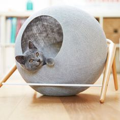 Cool design, like the proverbial yarn ball that cats unwind. Marie Claire Maison