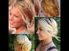 ▶ ♥♥♥Blake Lively Messy Braided Hair Updo♥♥♥ - YouTube