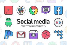 30 Free Social media icons – Pixelify | Best Free Fonts, Mockups, Templates and Vectors.
