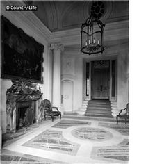The new entrance hall at Tyringham Hall.