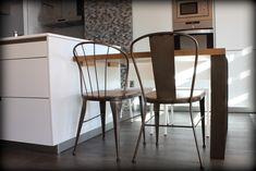 Mesa y sillas de hierro y madera  www.fustaiferro.com #diseño #interiorismo #madeinspain #hotel #fustaiferro #madrid 1 min