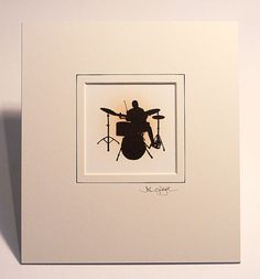 Amazing HandCut Drummer CutOut Artwork on etsy.com