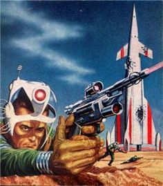 "Ed Emshwiller - Cover Art for ""Galaxy Science Fiction Magazine"" Published April 1955"