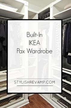 my Closet with the IKEA Pax Wardrobe Revamping my Closet with the IKEA Pax Wardrobe IKEA PAX Hack – How We Did It, how to add trim to wall mirror Making Sense of Ikea PAX: How to Choose the Right PAX Configuration for Your Closet Space Ikea Closet System, Walk In Closet Ikea, Ikea Closet Hack, Ikea Pax Wardrobe, Closet Hacks, Closet Organization, Wardrobe Closet, Closet Ideas, Wardrobe Ideas