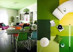 painted colourful dining table - Google Search