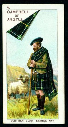 Mitchell's Cigarettes (Glasgow) - Scottish Clan Series - 1903. No4 Campbell of Argyll Although my MAIN clan is Donald, I can trace back to Campbell of Argyll!