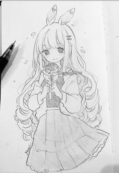 Anime Merchandise for all anime fans Anime Drawings Sketches, Anime Sketch, Kawaii Drawings, Manga Drawing, Manga Art, Cute Drawings, Storyboard Drawing, Pencil Drawings, Anime Girl Neko