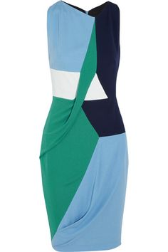 Margaux color-block draped stretch-jersey dress