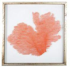 Westwing.nl  leaf painting coral