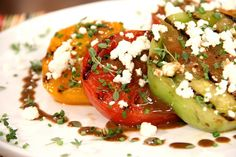 Grilled Tomato Salad! Get your veggies in ;)