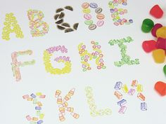 Candy Lettering by Sasha Prood, via Behance