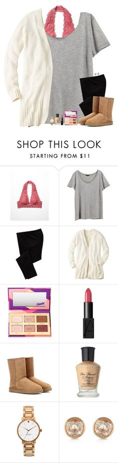 """""""I adore pretty things and witty words ~ Kate Spade"""" by maggie-prep ❤ liked on Polyvore featuring Free People, H&M, Old Navy, tarte, NARS Cosmetics, UGG Australia, Too Faced Cosmetics, Kate Spade and Michael Kors"""